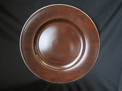 Marc Blackwell - MAHOGANY - Charger Plate - BRAND NEW