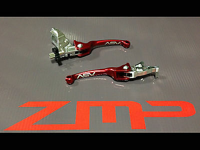 Yamaha Raptor 350 06 -13 F3 Asv Clutch And Brake Levers Red Pair Pack