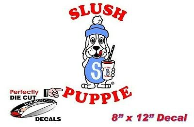 Slush Puppie 8''x12'' Decal for Convenience Store or Concession Food Trailer