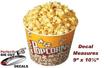 POPCORN TUB Decal for Popcorn Cart or Concession Trailer