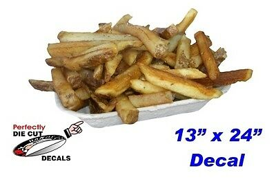 French Fries in a Tray 13''x24'' Decal for Restaurant or Carnival Food Trailer