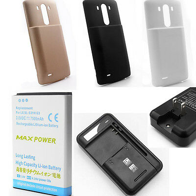 New 3800mAh 7500mAh Extended Li-ion Battery For LG G3 BL-53YH D855 VS985 D830