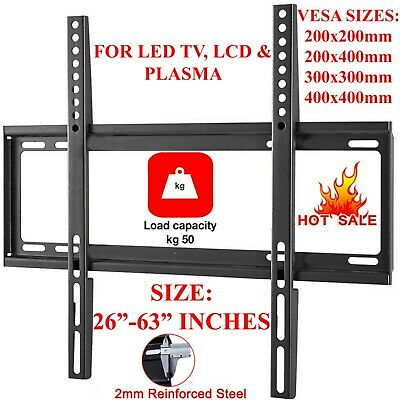 Plasma Lcd Led 3D Tv Wall Bracket Mount Slim 32 37 40 42 46 48 50 55