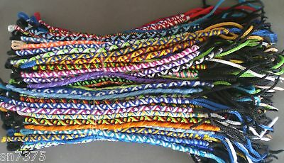 Wholesale 25 colorful twisted friendship bracelets handmade Peruvian lot