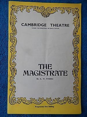 The Magistrate - Cambridge Theatre Playbill - 1969 - Alastair Sim - Routledge