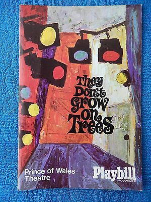 They Don't Grow On Trees - Prince Of Wales Theatre Playbill - 1968 - Dora Bryan