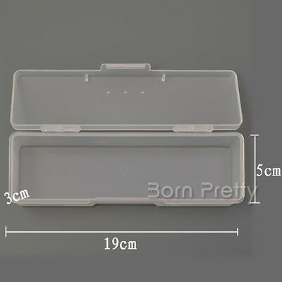 Plastic Storage Box For Nail Art Pen Container Case Nail Art Pen Tool Organizer