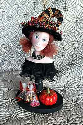 """*new* Craft Pattern """"the Jelly Bean Witch"""" By Sylvia Schorr"""