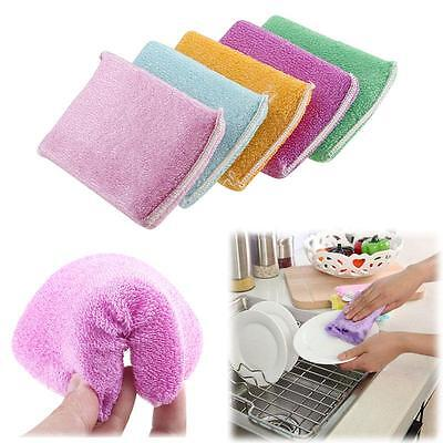 Kitchen Cleaning Dish Washing Up Sponge Scrubber Bamboo Fiber AU HF Cool