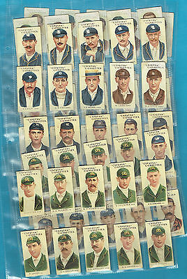 #d207. 1907 Set  Of Australian & English  Cricketers Cigarette Cards
