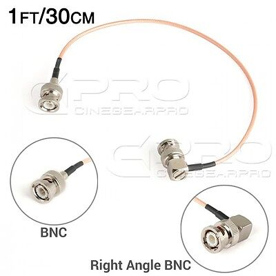 CGPro Ultra Thin Right Angled BNC to BNC HD-SDI 3G-SDI Cable(1FT/30CM) UK!