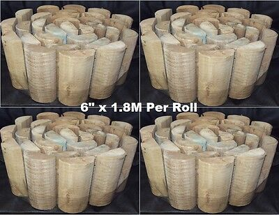 "4 x Rolls Of Wooden Lawn Log Roll Edging - 6"" x 1.8M Per Roll"