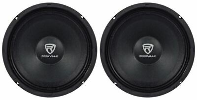 "(2) Rockville RM84PRO 8"" 4 Ohm 600 Watt SPL Midrange Min-Bass Car Speakers"
