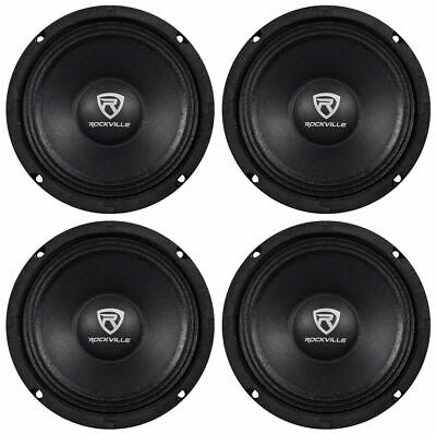 "(4) Rockville RM68PRO 6.5"" 800 Watt 8 Ohm SPL Midbass/Midrange Car Speakers"