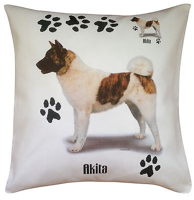 Akita Paws Breed of Dog Cotton Cushion Cover - Perfect Gift