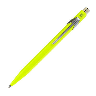 Caran d'Ache Swiss Made Metal Ballpoint Pen, Fluorescent Yellow