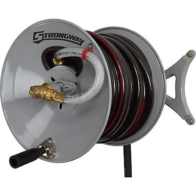 Strongway Wall-Mount Garden Hose Reel - Holds 150ft. x 5/8in.  sc 1 st  PicClick & REEL MOUNT GARDEN Hose Holder Wall Mount Hose Hanger Home Heavy-Duty ...