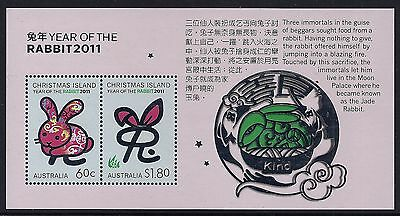 2011 Christmas Island Year Of The Rabbit Minisheet Fine Mint Mnh/muh