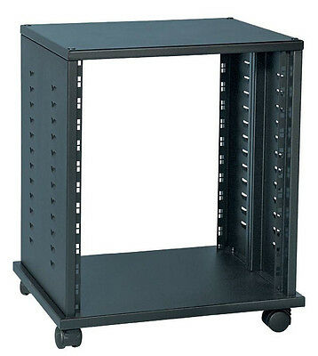 "Soundking DF140 12RU 19"" steel rack cabinet without door, on wheels"