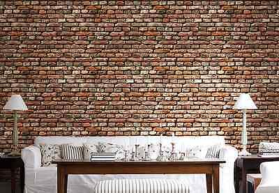 3D Red Brick Texture Wall Paper Wall Print Decal Wall Deco Indoor wall Murals