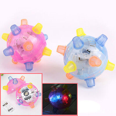 Jumping Joggle Bopper LED Light Up Bouncing Vibrating Sound Sensitive Ball Toy E