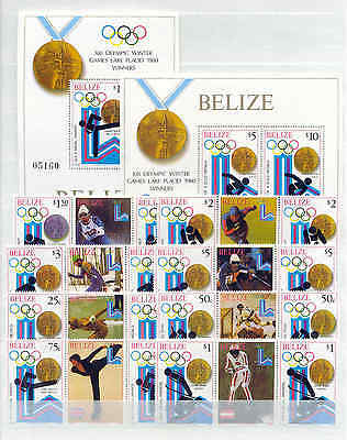 Olympiade 1980, Olympic Games - Belize - LOT ** MNH auf 2 Seiten !