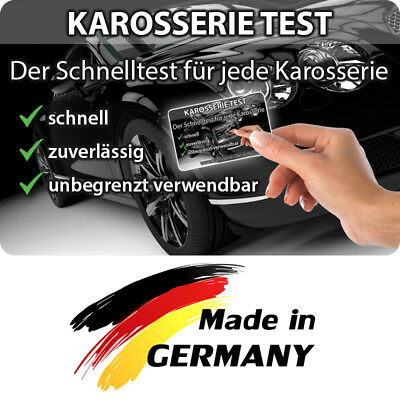 Grip magnetic test card for the bodywork when buying a used car