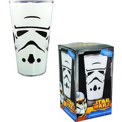 Star Wars - Stormtrooper Pint Glass Tumbler New & Official Lucasfilm Ltd In Box