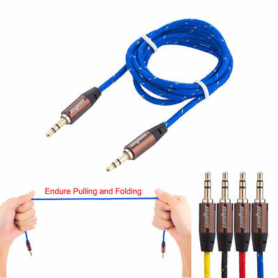 1m 3.5mm Mini STEREO Jack to Jack Aux Cable Audio Auxiliary Lead PC Car GOLD