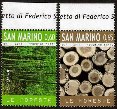 SAN MARINO MNH 2011 EUROPA Stamps - The Forest