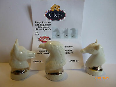 Wade Whimsie Pony Alsation And Eagle Bust Silver Specials Le 150