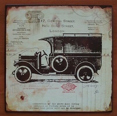 """Antique Style Vintage Panel Truck Metal Sign 10""""x10"""" Wall Art"""