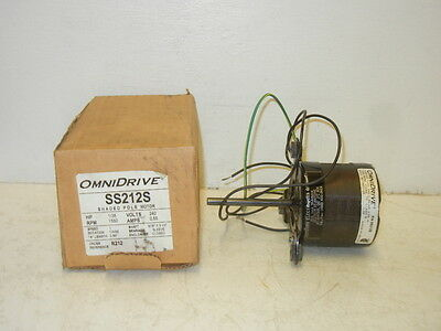Omnidrive Ss212S New Shaded Pole Motor 1/35 Hp 1550 Rpm Ss212S
