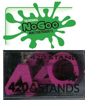 """PURPLE """"NOGOO BRAND 420 STAND""""...SILICONE holds 14mm or 18mm slide and tool rest"""