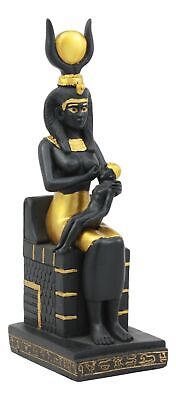 Egyptian Goddess Of Motherhood Isis Nursing Horus Statue Ptolemaic Era Sculpture