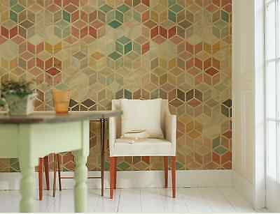 3D Colorful Geometric Wall Paper Wall Print Decal Wall Deco Indoor wall Murals