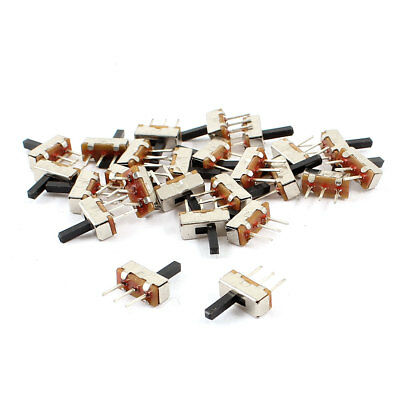 25 Pcs 3 Terminals 2 Position SPDT Horizontal Latching Micro Mini Slide Switch