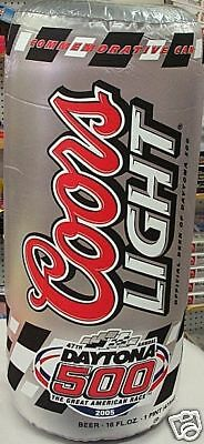 Coors Light Inflatable Daytona 500 Beer Can Man Cave Decoration Sign