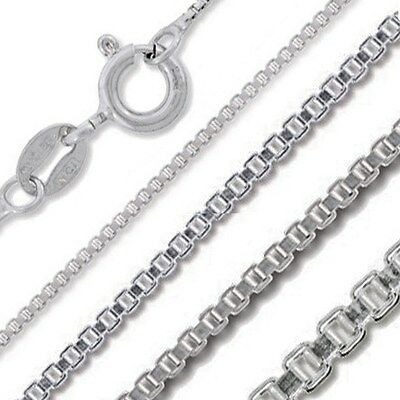Sterling Silver Italian Box Chain .7mm-4.5mmSolid .925 Wholesale Italy Necklace