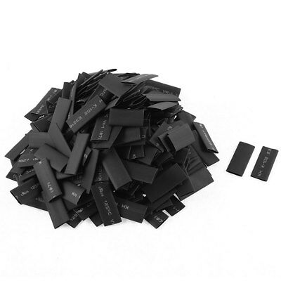 280pcs 7mm Dia Polyolefin 2:1 Heat Shrink Tubing Wire Wrap Sleeve 30mm Black