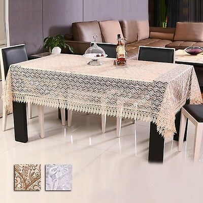 Fashion Tablecloth Organdy Embroidered Table Cover Coffee Table Cloth Home Decor