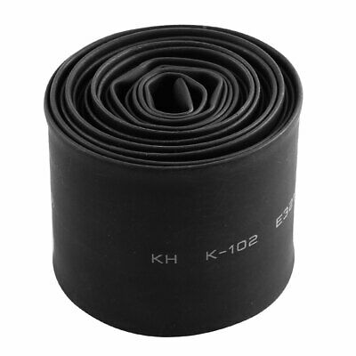30mm Dia 2Meter Length Polyolefin Heat Shrink Tubing Sleeving Black 2:1