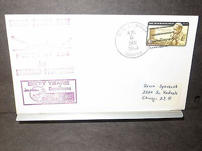 USS BARRY DD-933 Naval Cover 1963 HOMELAND PROTECTION Cachet