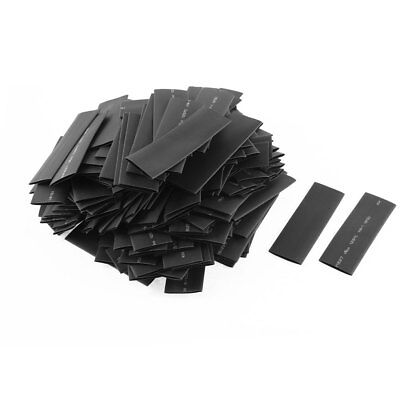 200pcs 16mm Dia Polyolefin 2:1 Heat Shrink Tubing Wire Wrap Sleeve 80mm Black