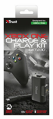 Brand New Trust 20620 Gxt 230 Charge And Play Kit For Xbox One
