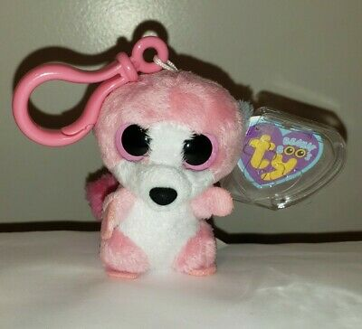 3.5 Inch Ty Beanie Boos ~ SYDNEY the Leopard Key Clip MWMT Claire/'s Exclusive