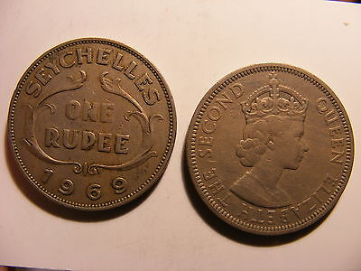 Seychelles Rupee, 1969, Circulated, Mintage ONLY 50,000 !!!!