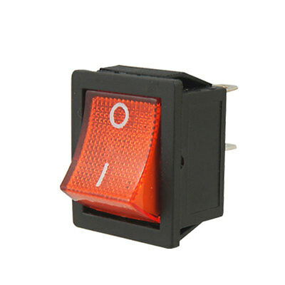 AC 15A/250V 20A/125V Red Lamp Illuminated 4 Pin DPST ON/OFF Boat Rocker Switch