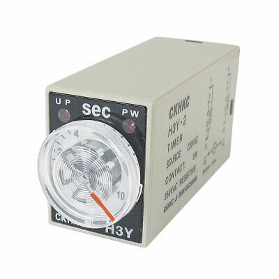 AC 220V 8P Terminals DPDT 10 Seconds 10S Delay Timer Time Relay H3Y-2