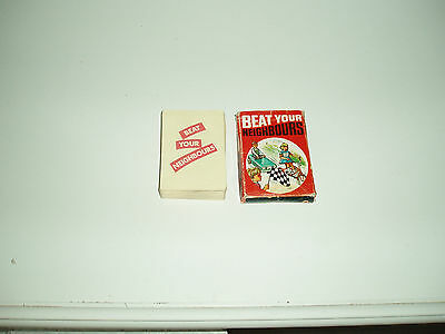 """Vintage """"Beat your Neighbours"""" card game by Arrow Games 1950s."""
